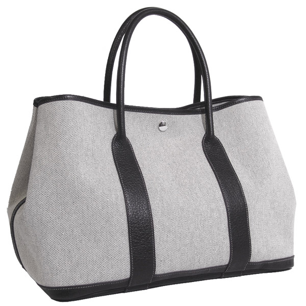Hermes Garden Party PM Cross gray Silver metal bag,Best Hermes New ...